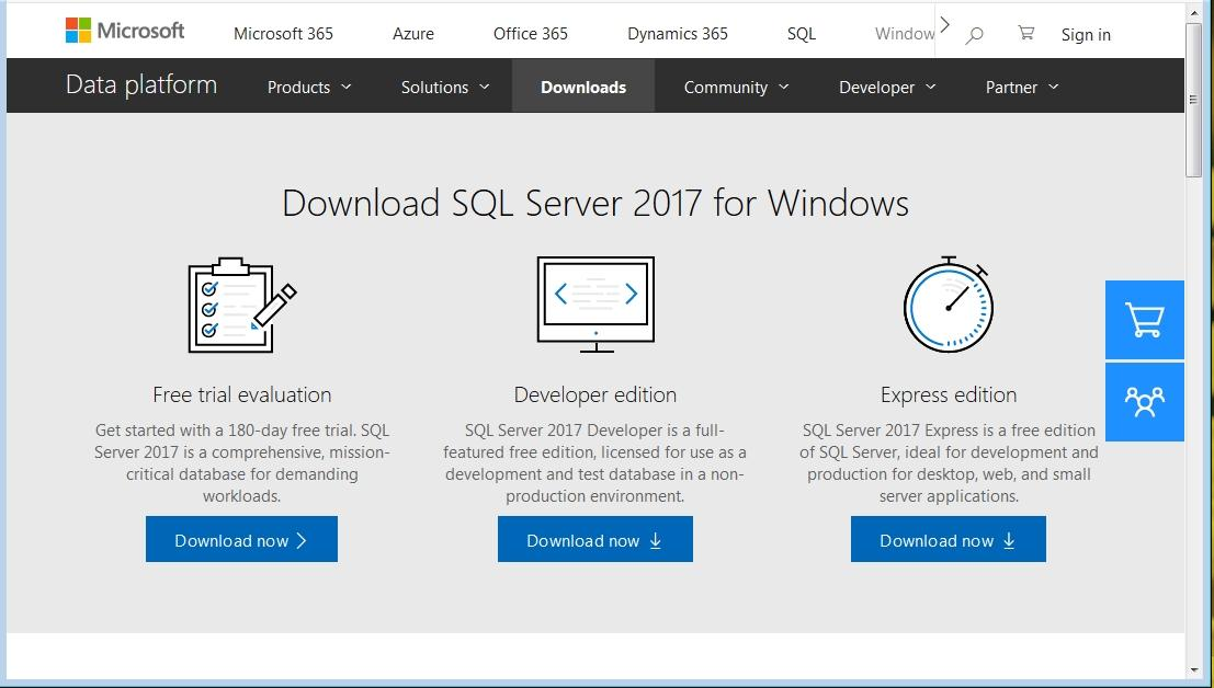 sql server 2017 iso free download